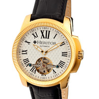 Franklin Yellow Gold & Semi Skeleton Dial Watch, 42mm