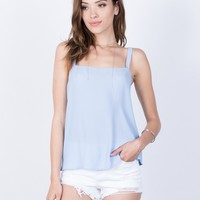 Tied Together Chiffon Tank