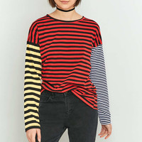 BDG Colour Blocked Striped Long Sleeve Shirt - Urban Outfitters
