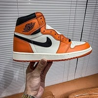 Nike Air Jordan 1 Retro Reverse Shattered Backboard Sneakers Shoes