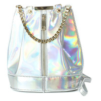 HOLOGRAM SILVER ZIP BAG