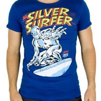 Marvel Comics mens T-shirt Silver Surfer
