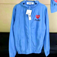 PLAY Fashion Print long sleeve prevent bask in clothes 4 color 3 size G-A-KSFZ Blue