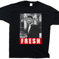 Funny Fresh Prince of Bel Air T Shirt Black, White or Ash Gray