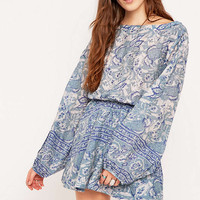 Free People Sheer Sun Printed Dress - Urban Outfitters
