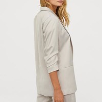 Jacket with Gathered Sleeves - Light taupe - Ladies | H&M US