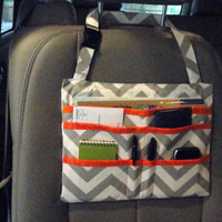 Car Seat Organizer Caddy - You Choose Your Colors