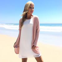 Chic In Pink Cardigan
