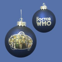"""3.25"""" Doctor Who """"The Many Faces of the Doctor"""" Glass Disc Christmas Ornament"""