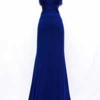 KC131558 Blue Backless Prom Dress by Kari Chang Couture