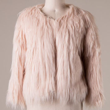 Soft Blush Fur Jacket