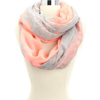 NEON & LACE PRINTED INFINITY SCARF