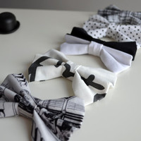NEW. Monochrome Collection Hair Bows.