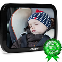 totview® Baby Car Mirror - BEST Baby Mirror For Rear Facing Car Seats   Perfect Back Seat View of Infant   Shatterproof + Ultra-Strong Dual Safety Straps   Tested by Parents   Plus LIFETIME Guarantee