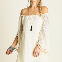 Lace Off Shoulder Gypsy Dress by Umgee