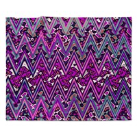 "Nika Martinez ""Pink Electric Chevron"" Fleece Throw Blanket"