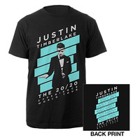 Justin Timberlake Official Store | Blue Striped 20/20 Experience Tour Tee
