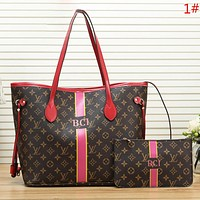 LV Louis Vuitton Women Fashion New Monogram Shoulder Bag Handbag Two Piece Suit