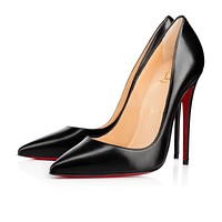 Cl Christian Louboutin So Kate Black Leather 120mm Stiletto Heel 13w