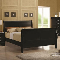 Louis Philippe Sleigh Bed