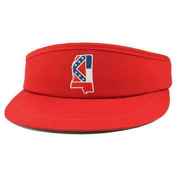 MS Traditional Golf Visor in Red by State Traditions