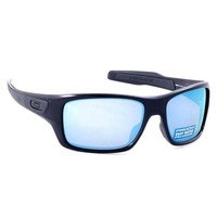 Oakley Turbine Sunglasses Polished Black Polarized Prizm Deep Water OO9263-14