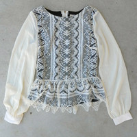 .Wisteria Lace Blouse [4951] - $22.40 : Vintage Inspired Clothing & Affordable Dresses, deloom   Modern. Vintage. Crafted.