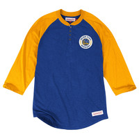 Mitchell & Ness Golden State Warriors Unbeaten Henley In Royal