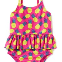 Pineapple-Graphic Swimsuit for Baby | Old Navy