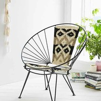 Woven Chatra Chair- Black One