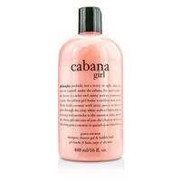 Philosophy Cabana Girl Guava Coconut Shampoo, Shower Gel & Bubble Bath 16 Fl. Oz.