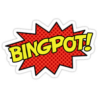 'BINGPOT!' Sticker by jacsilepi