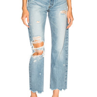 Moussy Loa Wide Straight in Light Blue | FWRD