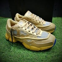 Sale Raf Simons x Adidas Consortium Ozweego 2 III Retro Sport Smart Running Shoes Khaki Gold Blue Trainers Shoes AQ2641