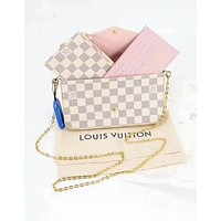 LV Women Shopping Bag Leather Handbag Tote Shoulder Bag Satchel Three-Piece