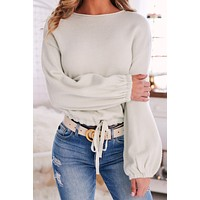 Going Casual Knit Sweater (Whisper Green)