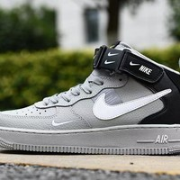 Air Force 1 07 LV8 Utility Grey Black White High - Best Deal Online
