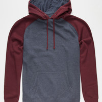 Standard Supply Mens Raglan Pullover Hoodie Burgundy  In Sizes