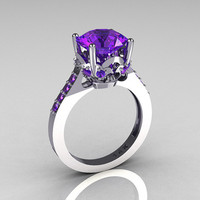 Classic Bridal 14K White Gold 30 Carat Purple by artmasters