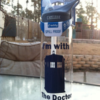 Dr. Who inspired water bottle - Tardis, Dalek, Bow Ties, or Weeping Angel