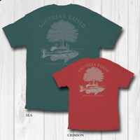 "Southern Raised ""Hooked On the South"" Tee on Comfort Colors"