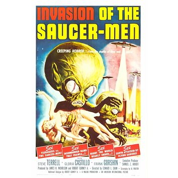 Poster: Invasion of the Saucer Men (1957) 24x36