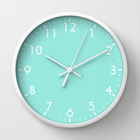 Blue Wall Clock by Beautiful Homes