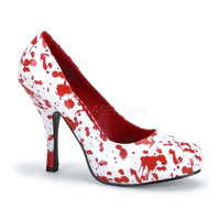 Demonia Blood Splatter High Heel Shoes - White :: VampireFreaks Store :: Gothic Clothing, Cyber-goth, punk, metal, alternative, rave, freak fashions
