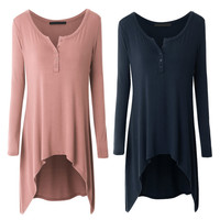 Spring Autumn Women Maternity Tops Loose Pregnant Maternity T Shirts Casual Long Sleeve Pregnant Mother's Tees Maternity Clothes
