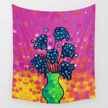 Whimsical Colorful Flower Bouquet by Sharon Cummings Wall Tapestry by Sharon Cummings