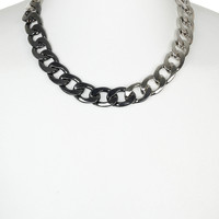 Two Tone Necklace - Necklaces - Mens Jewelry - TOPMAN USA