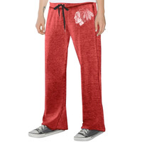 Touch by Alyssa Milano Chicago Blackhawks Ladies Star Player Burnout Pants - Red