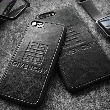 GIVENCHY Top grade leather phone case shell  for iphone 6/6s,iphone 6p/6splus,iphone 7/8,iphone 7p/8plus, iphonex