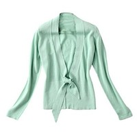 TopStyliShop Woman's Shawl Neck Cardigan with Strappy S091908 Color Green